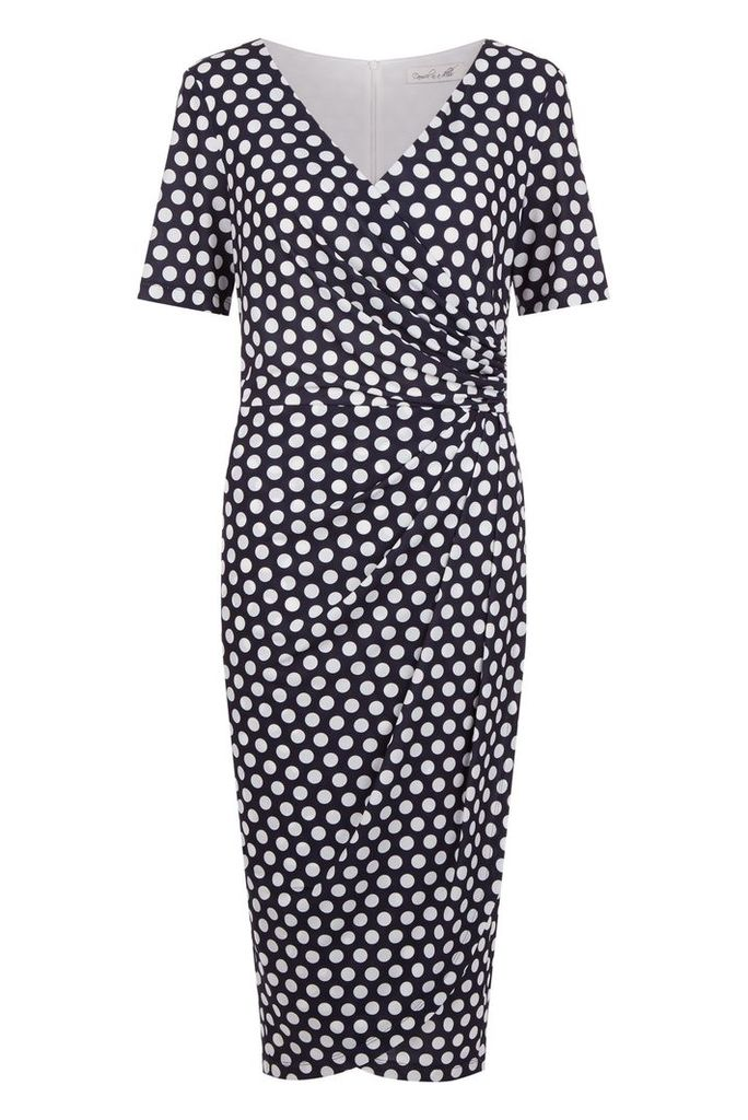 Damsel in a Dress Enrica Spot Print Dress, Blue