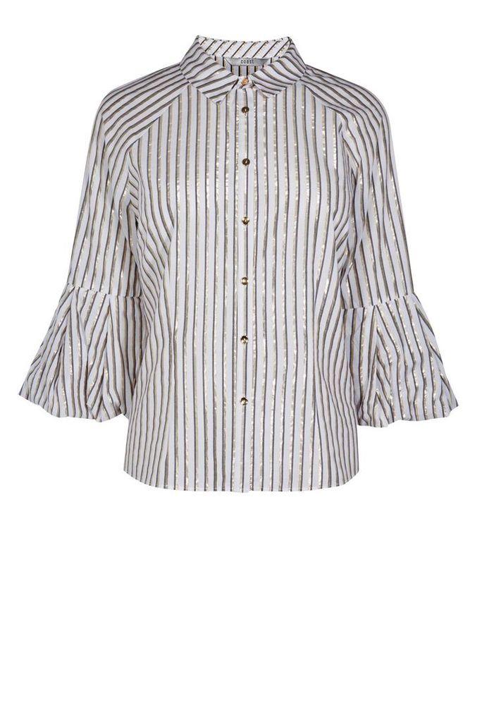 Coast Nassera Cuff Stripe Shirt, Multi-Coloured