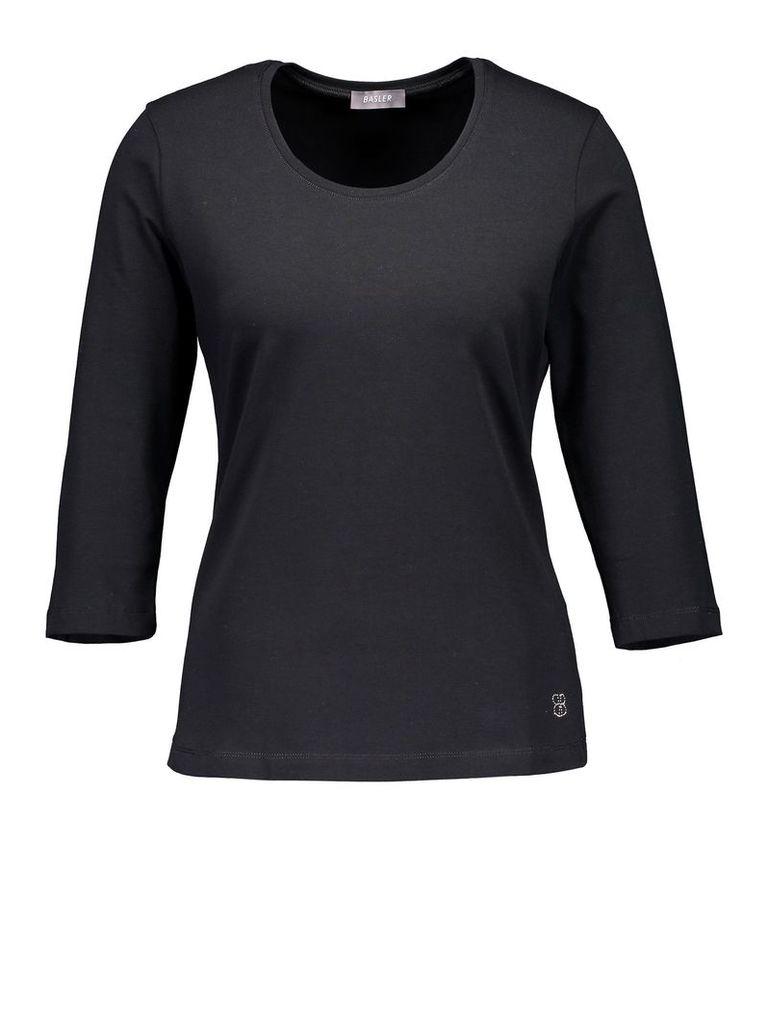 Basler Cotton T-shirt, Black