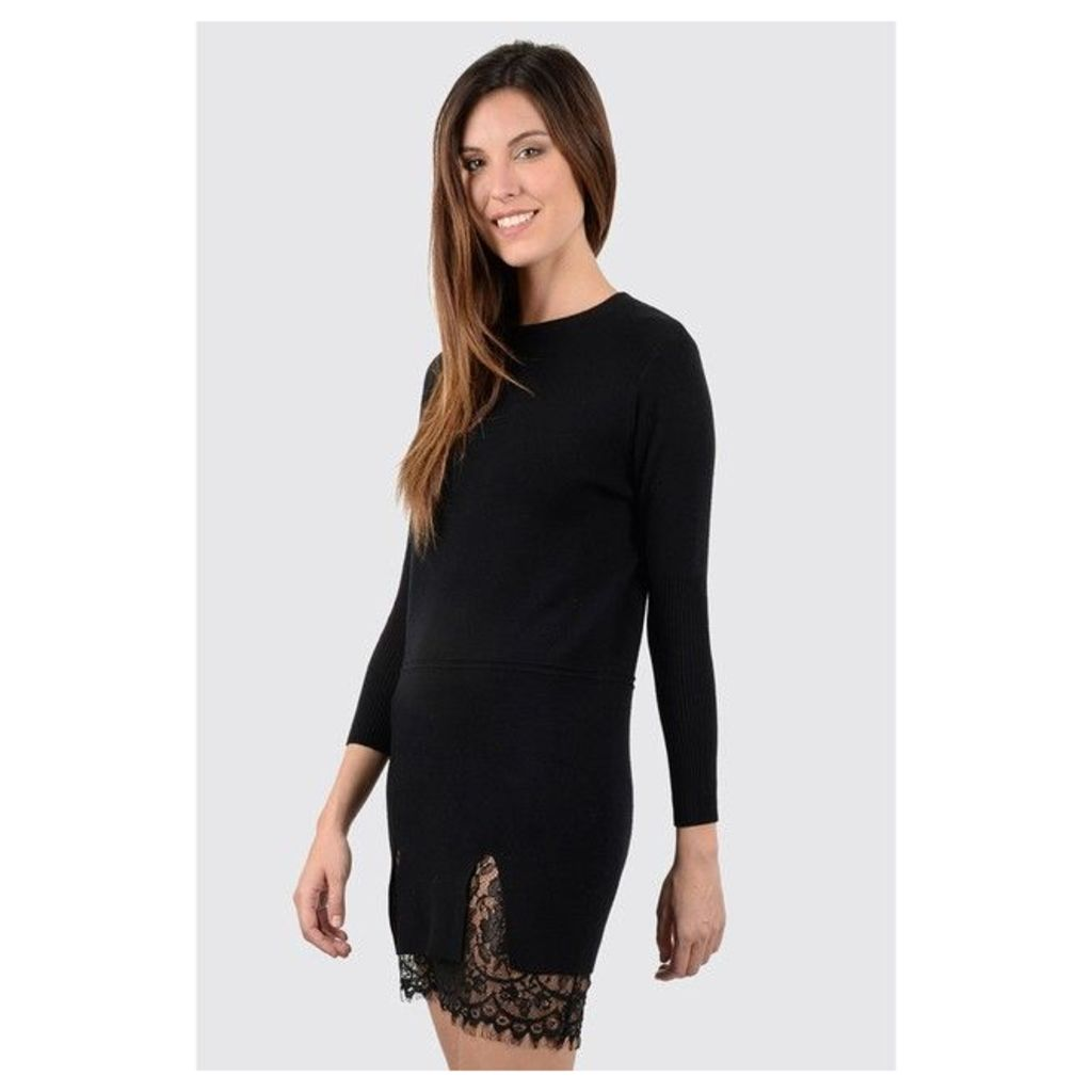 Short Dress with 3/4-Length Sleeves