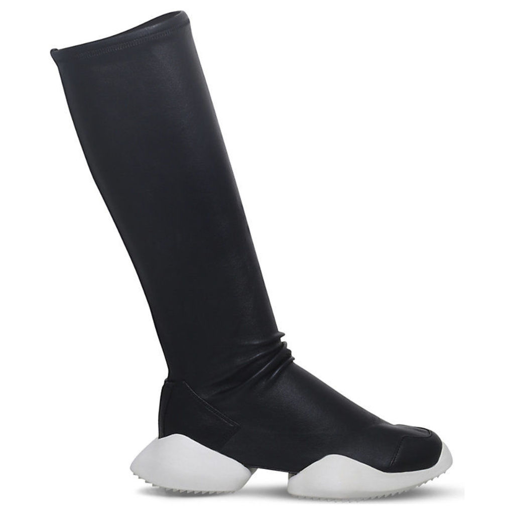 Rick Owens x adidas Vicious Level Runner leather boots