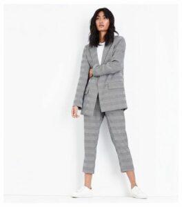 Grey Check Contrast Cuff Blazer New Look