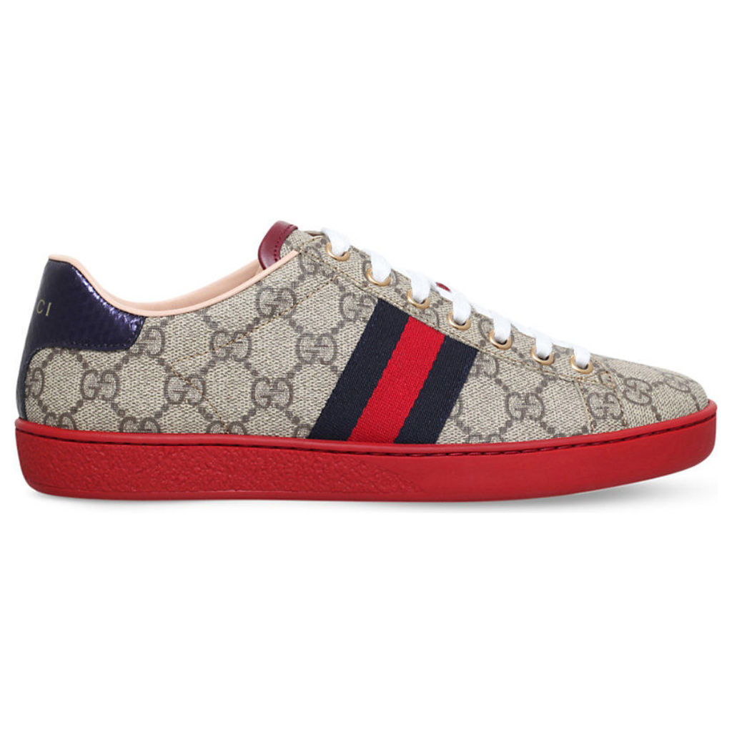 Gucci New Ace GG canvas trainers, Women's, Size: EUR 39.5 / 6.5 UK WOMEN, Blk/white
