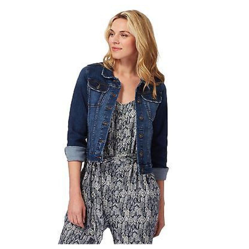 Mantaray Womens Blue Mid Wash Denim Jacket From Debenhams