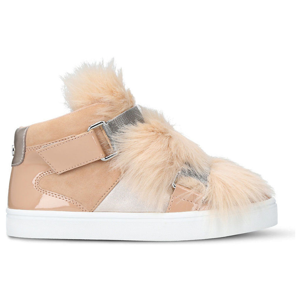 Lovely faux-fur trainers