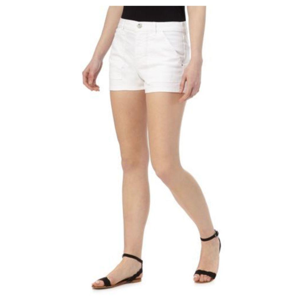 Red Herring Womens White Denim Shorts From Debenhams