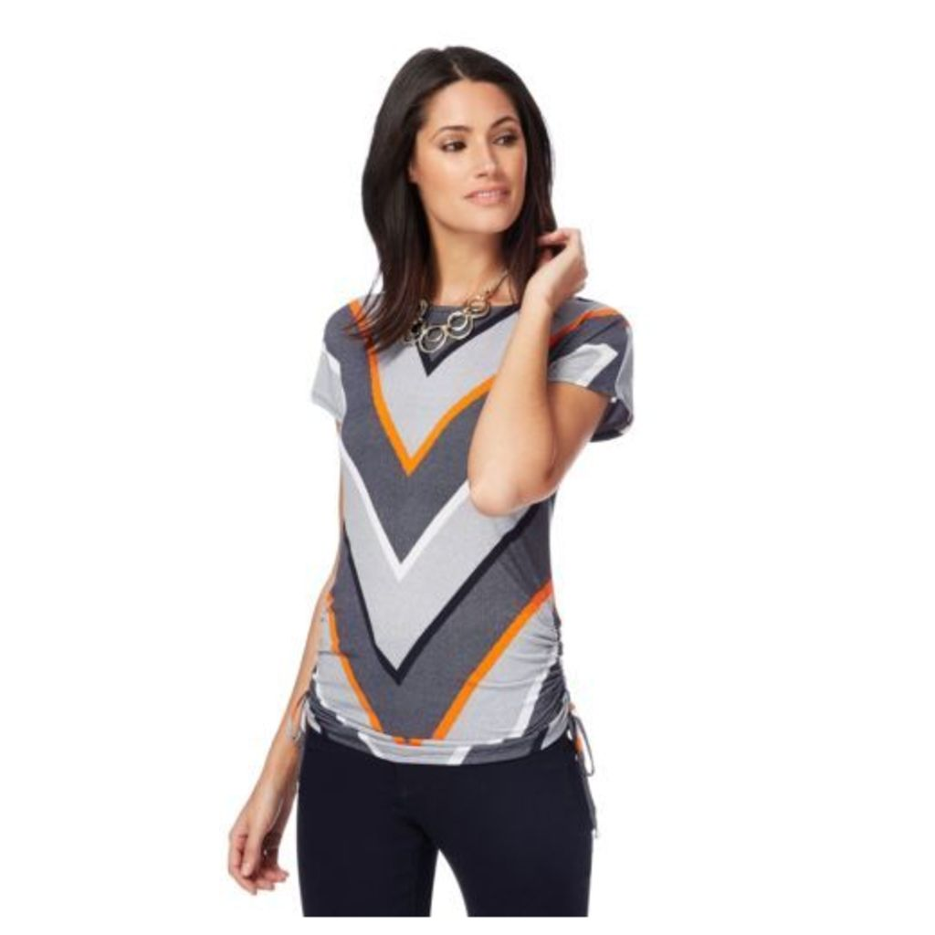 Principles By Ben De Lisi Womens Multi-Coloured Chevron Striped Top