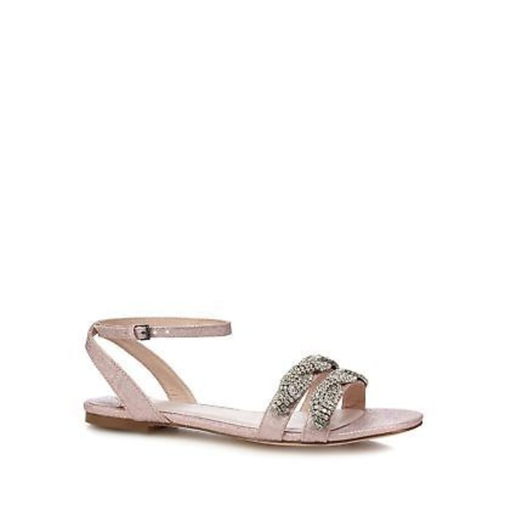 Faith Pink Glitter 'Jenga' Comfort Fit Ankle Strap Sandals From Debenhams