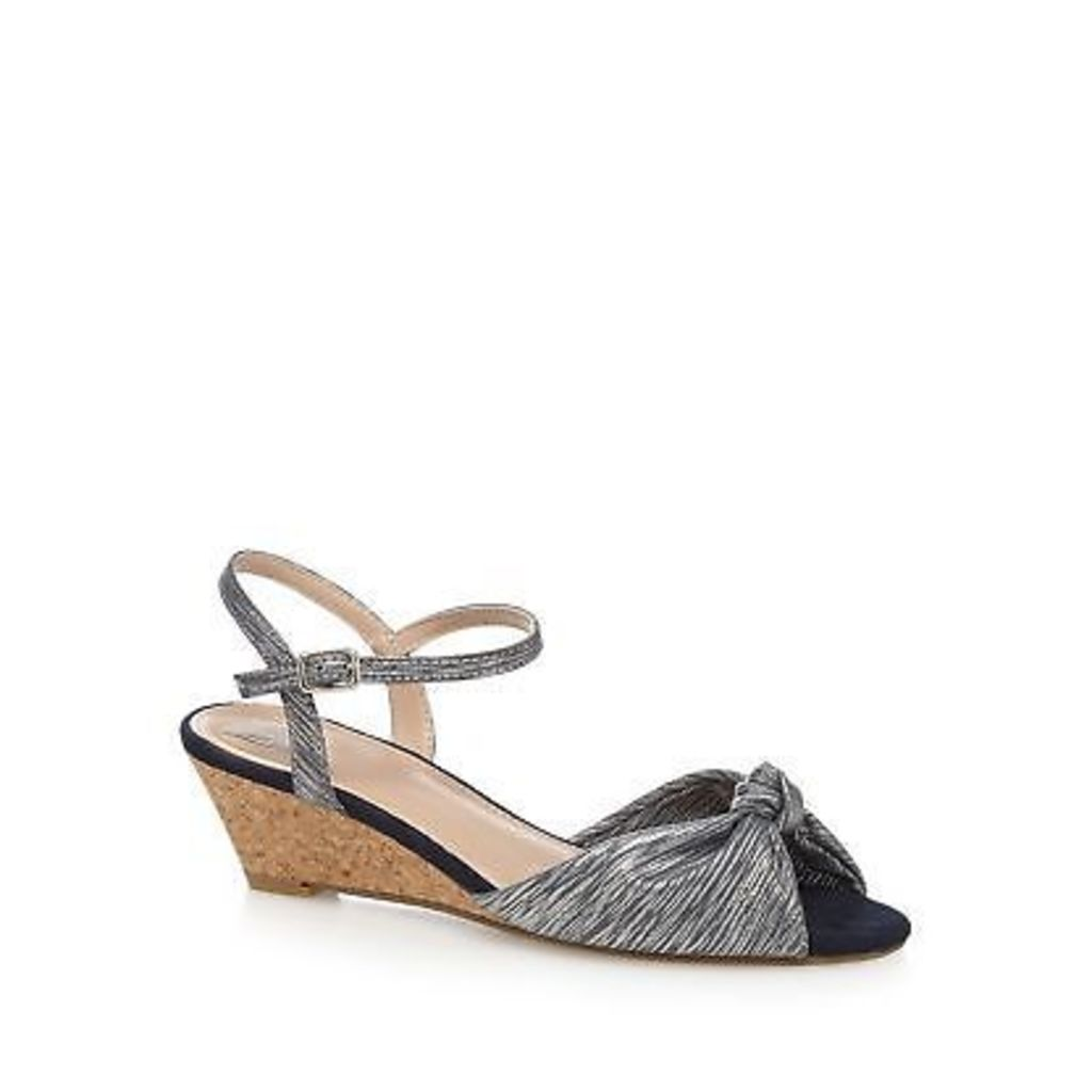 The Collection Grey 'Claudia' Mid Wedge Heel Ankle Strap Sandals From Debenhams