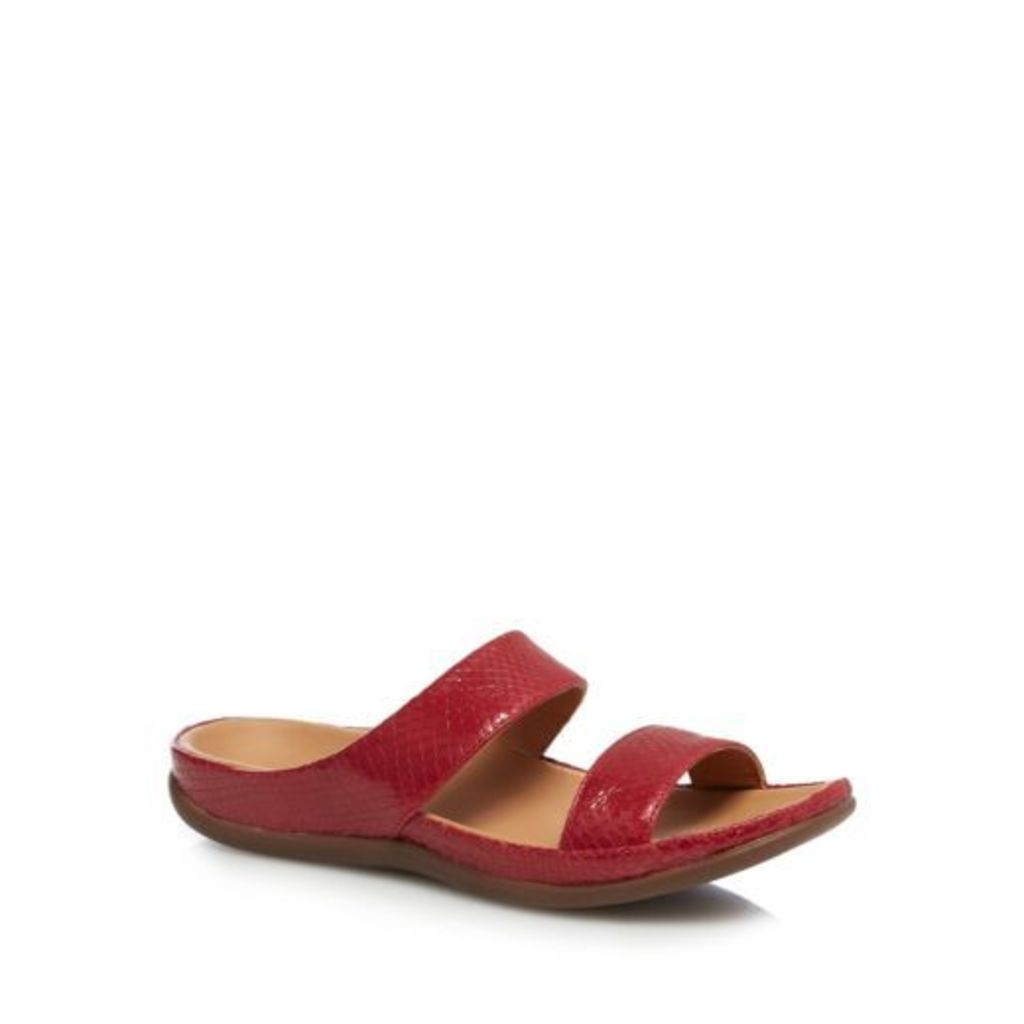 Strive Red Leather 'Lombok' Mule Sandals From Debenhams 5