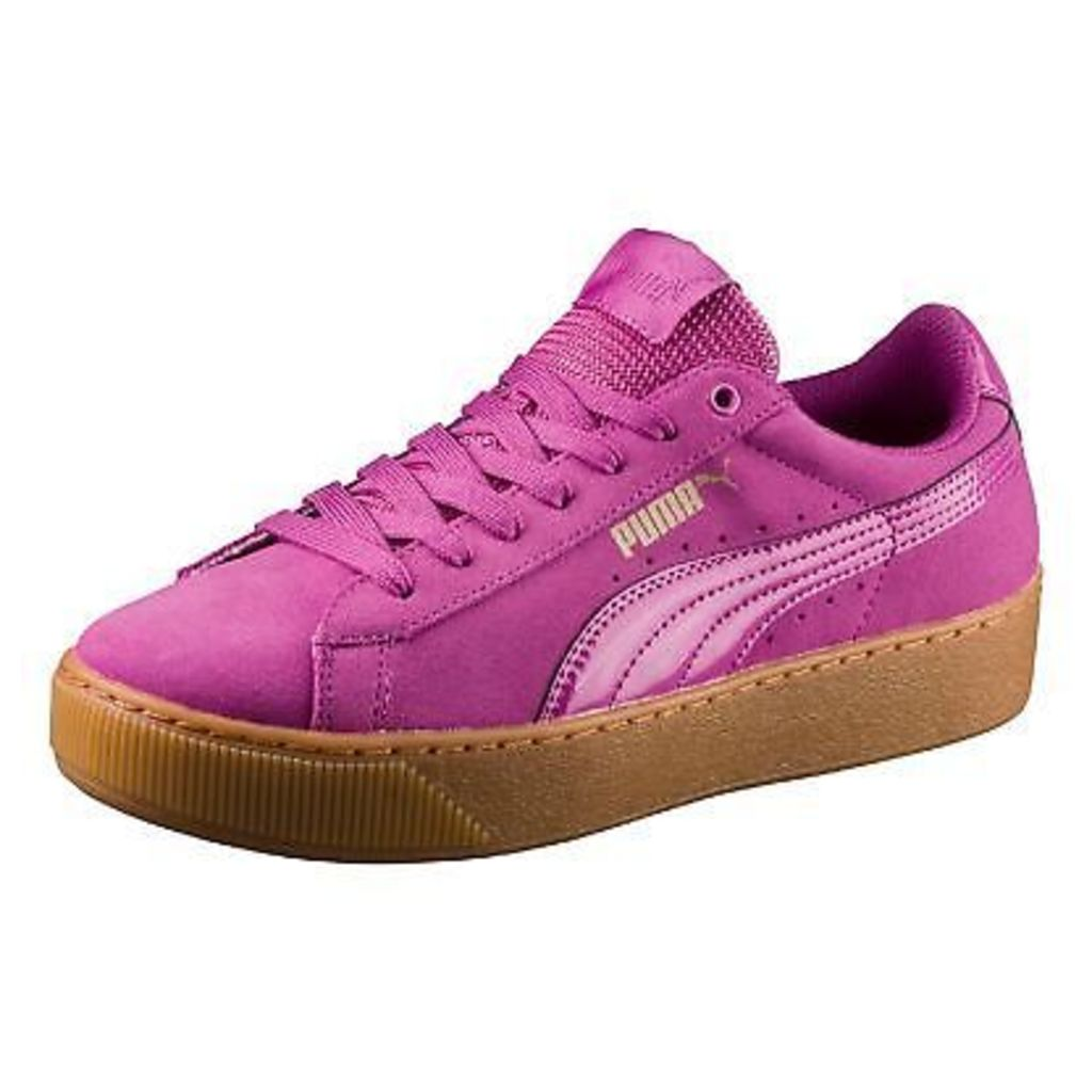 Puma Womens Pink Vikky Platform Trainers From Debenhams