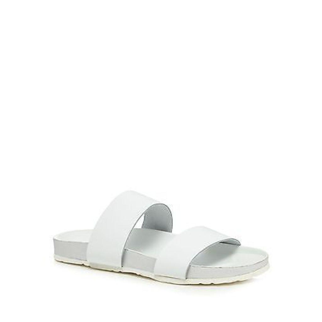 Faith White Leather 'Joleen' Flip Flops From Debenhams