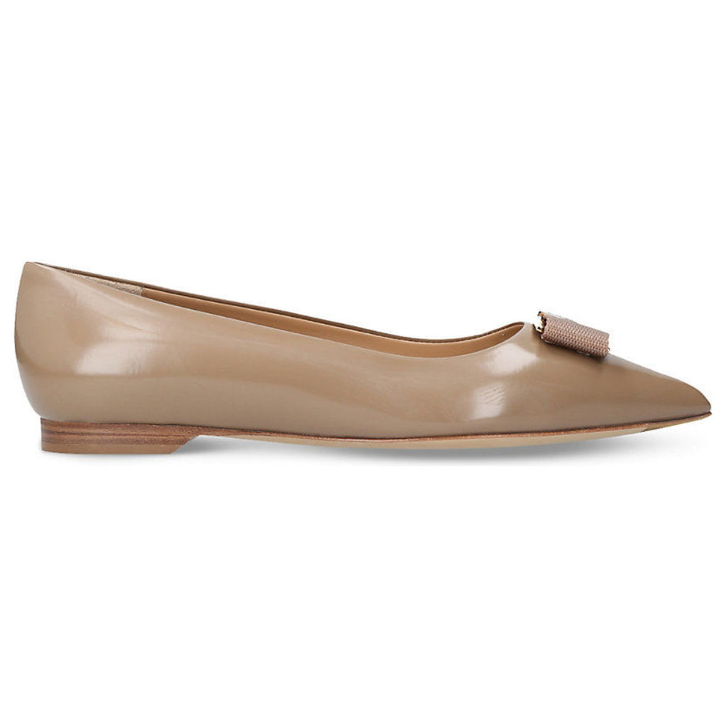 Friuli leather pointed ballet flats
