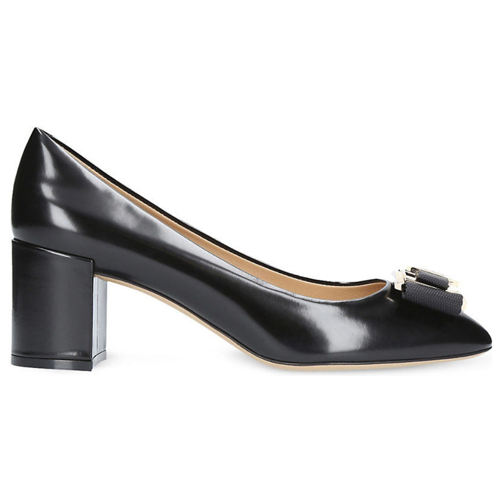 Prato bow leather court shoes