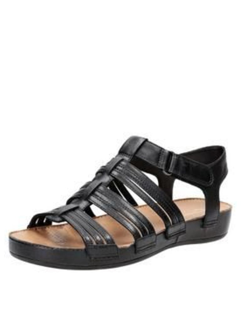 Clarks Raspberrychic4 Wide Fit Chunky Sole Sandal - Black