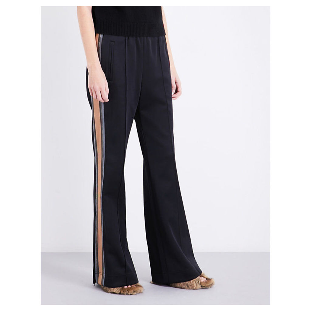 Striped-sides jersey jogging bottoms