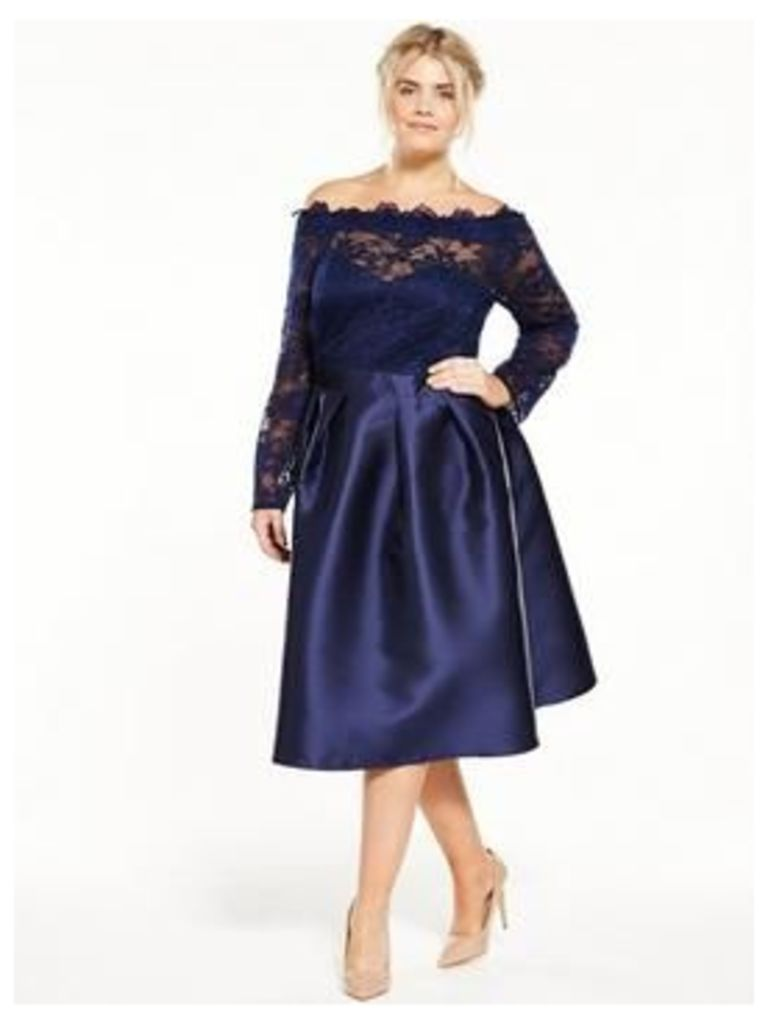 Little Mistress Curve Curve Off Shoulder Midi