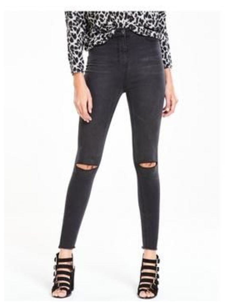 V By Very Tall Addison High Waist Slash Knee Super Skinny