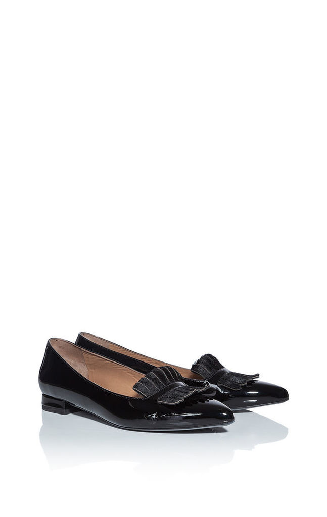 Fringed Leather Loafers