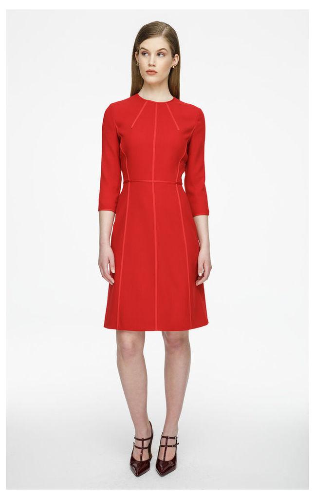 Virgin Wool Paneled Dress