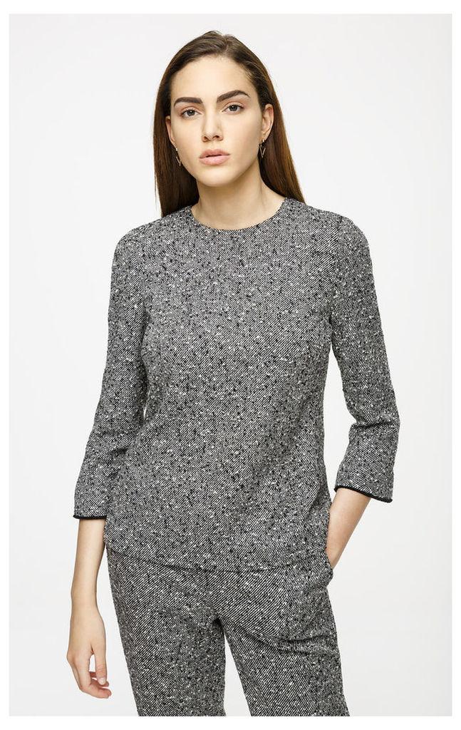 Wool Tweed Top
