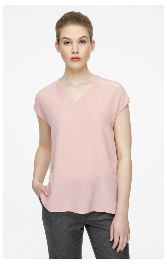 Silk Cap-Sleeve Top
