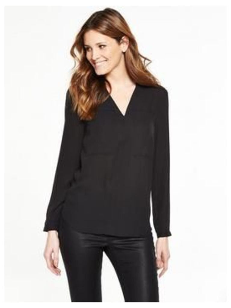 V By Very V Neck Pocket Blouse