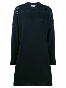 Fendi gradient sweater dress - Black
