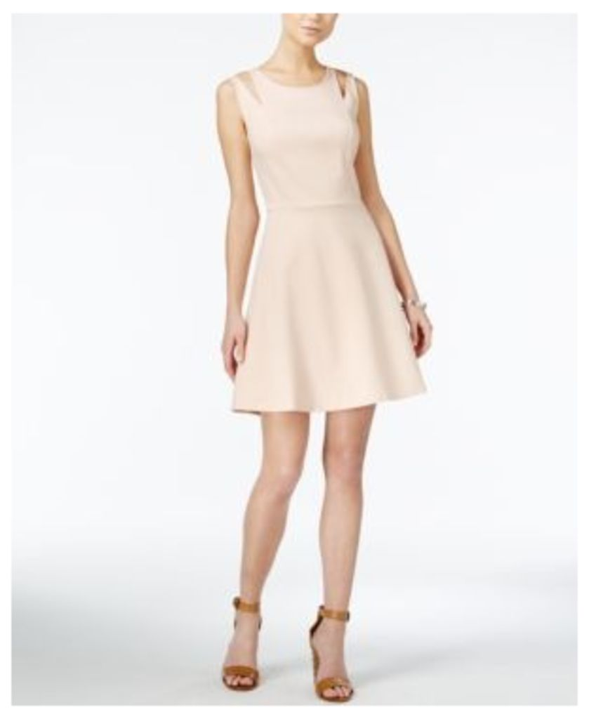 Bar Iii Cutout Fit & Flare Dress, Created for Macy's