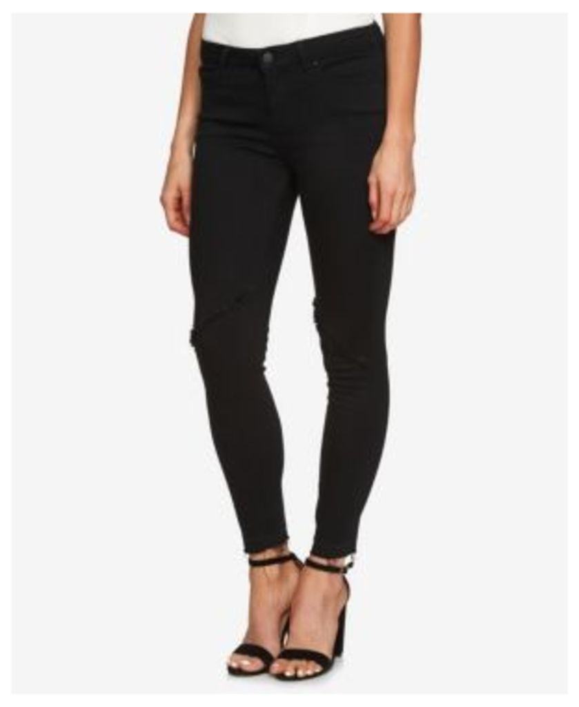 1.state Frayed Skinny Jeans