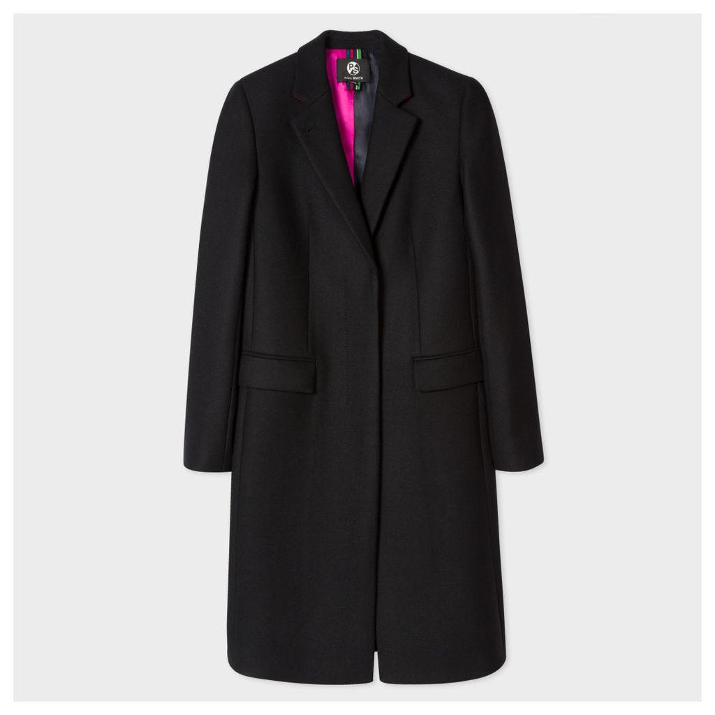 Women's Black Wool-Cashmere Epsom Coat