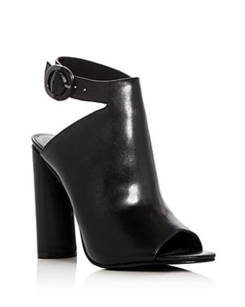 Kendall and Kylie Gigi Leather Peep Toe High Heel Booties