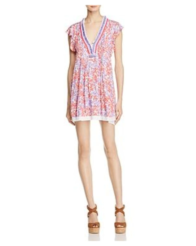 Poupette St. Barth Sasha Floral Print Mini Dress