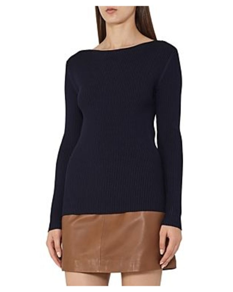 Reiss Nicky Boat Neck Ribbed Sweater