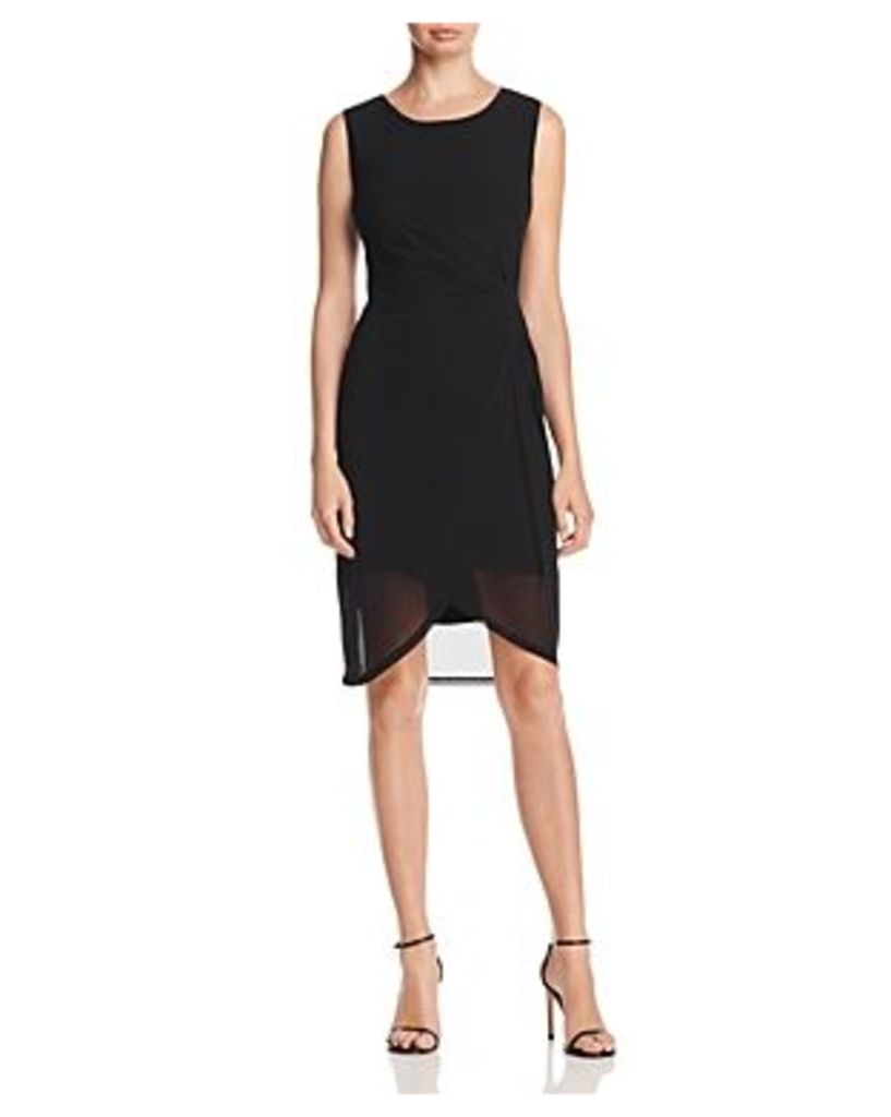 T Tahari Bellini Twist Waist Mesh Dress