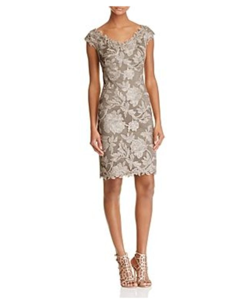 Tadashi Shoji Embroidered Lace Cocktail Dress