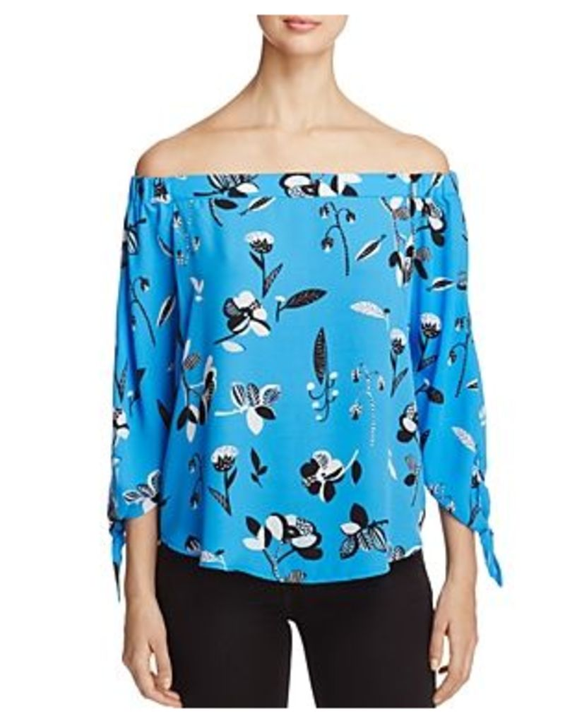 Finn & Grace Off-the-Shoulder Floral Print Blouse - 100% Exclusive