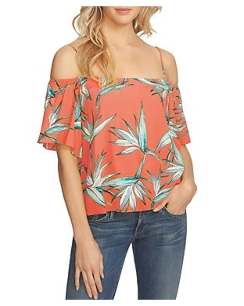 1.state Floral Cold-Shoulder Top