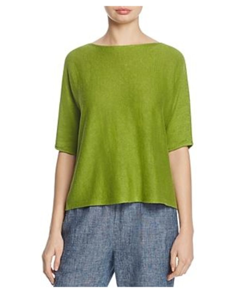 Eileen Fisher Petites Boat Neck Boxy Top