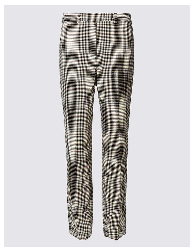 M&S Collection Checked Slim Leg Trousers