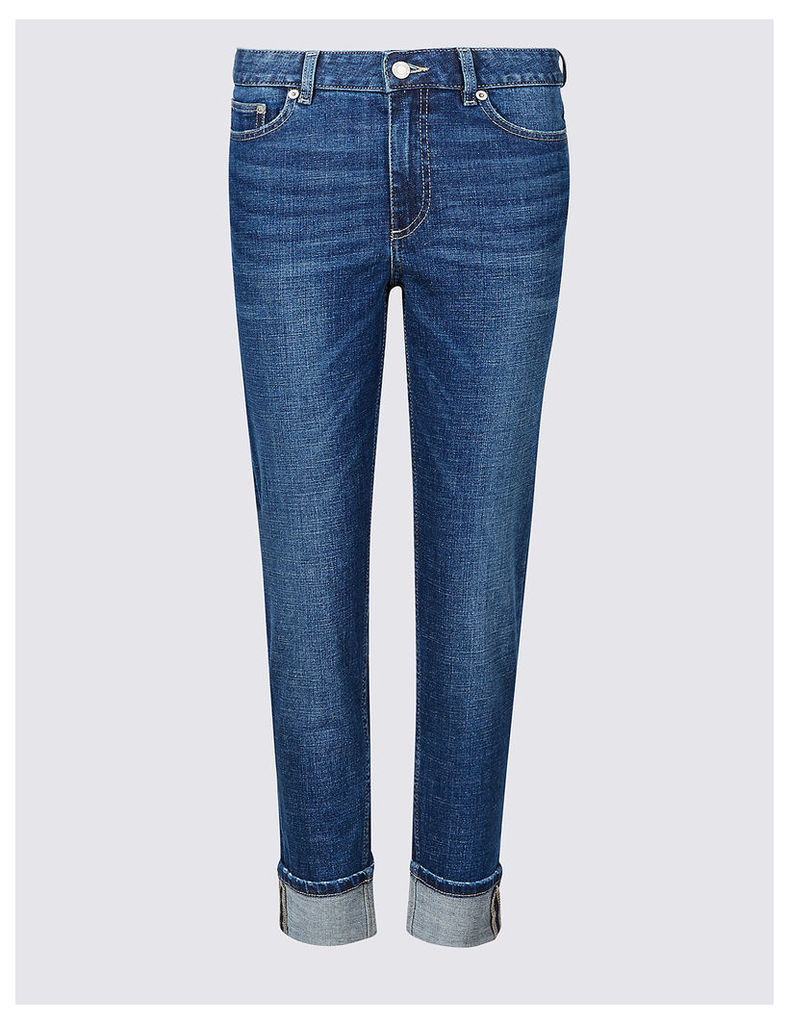M&S Collection Mid Rise Slim Leg Jeans