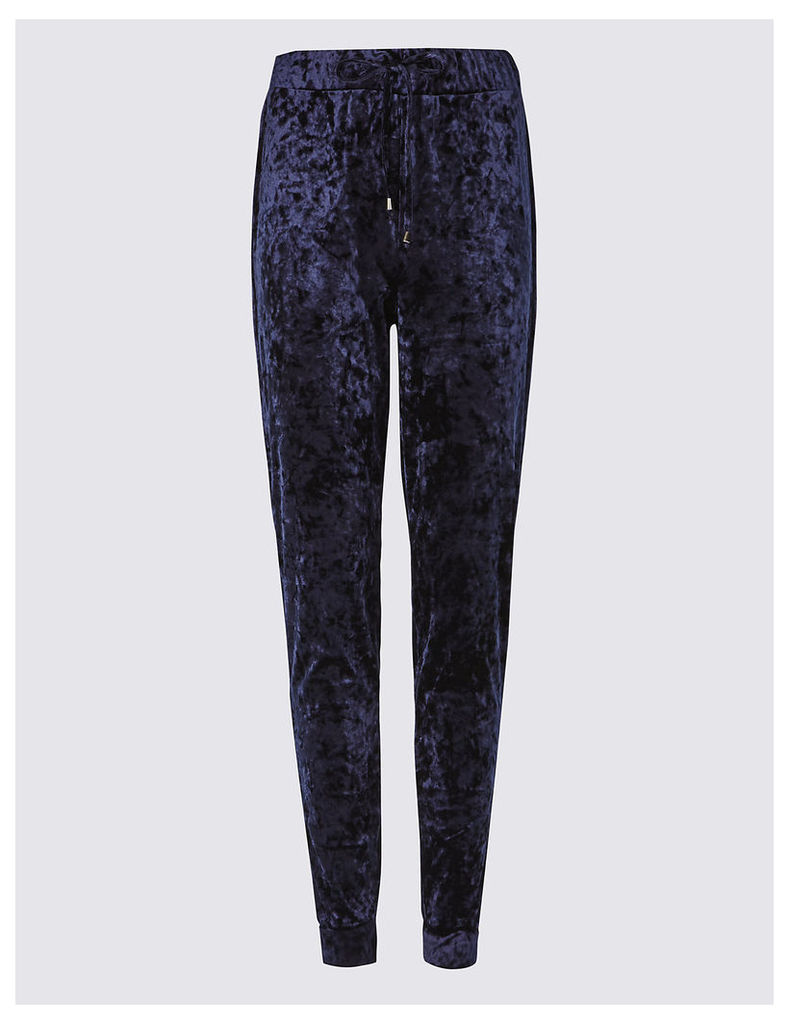 M&S Collection Velvet Joggers
