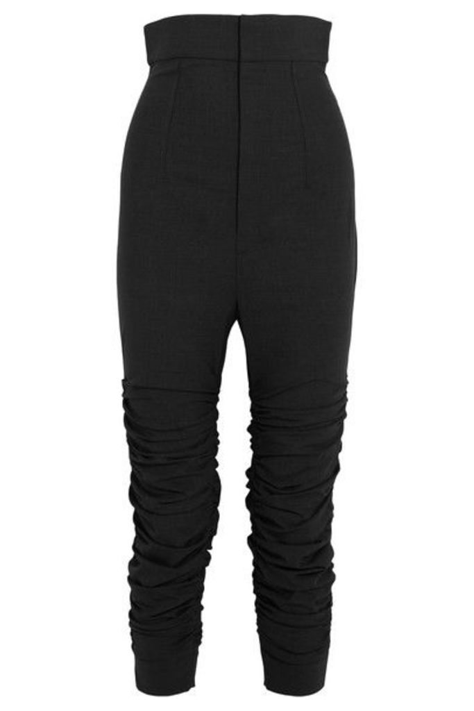 Jacquemus - Le Corsaire Froncé Ruched Stretch-wool Skinny Pants - Dark gray