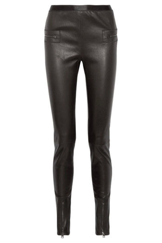 TOM FORD - Leather Skinny Pants - Black