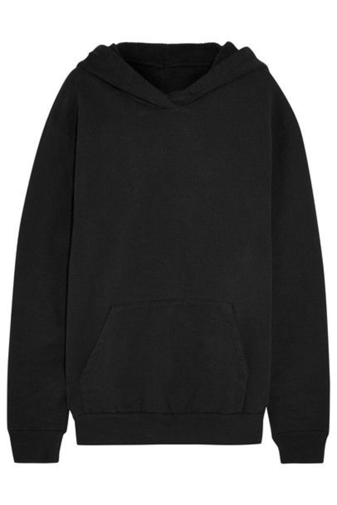 MM6 Maison Margiela - Oversized Cotton-jersey Hooded Top - Black