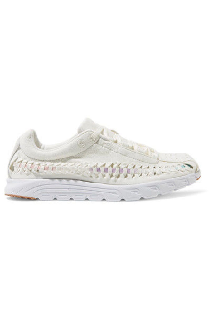 Nike - Mayfly Woven Faux Suede Sneakers - Ivory
