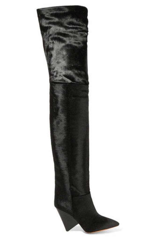 Isabel Marant - Lostynn Calf Hair Over-the-knee Boots - Black