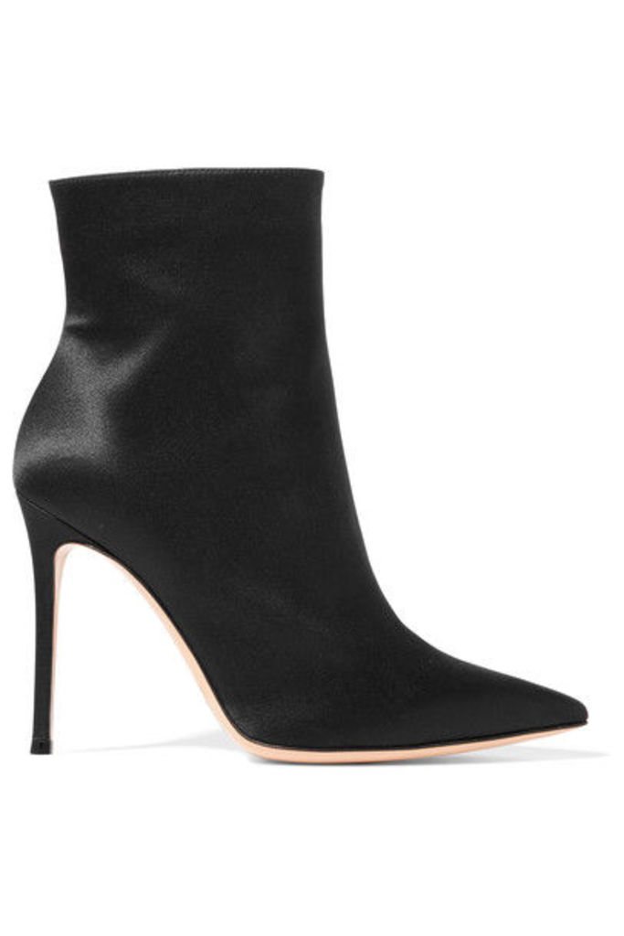 Gianvito Rossi - Arles Satin Ankle Boots - Black