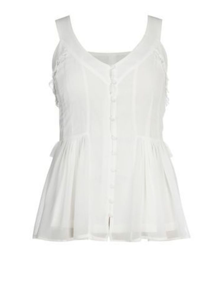 City Chic Willow Top, Ivory