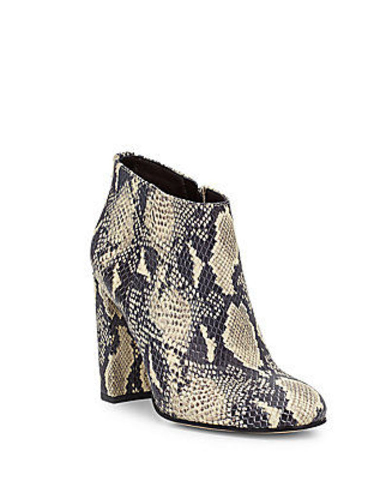Campbell Printed Leather Ankle Boots